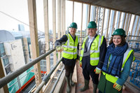 Press Eye - Belfast - Northern Ireland - 15th February 2020. . Ulster University Vice Chancellor Prof Paul Bartholomew & Prof Cathy Gormley-Heenan gave Secretary of State . Brandon Lewis a tour of the impressive Belfast campus development that is currently under construction in the city centre.. Picture Matt Mackey / Press Eye.