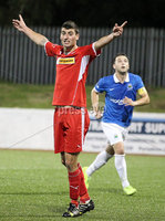 @Press Eye Ltd Northern Ireland- 2nd September 2014. Mandatory Credit -Brian Little/Presseye . Cliftonville  Johnny Flynn appeals for a goal against Linfield   during Tuesday night\'s Danske Bank Premiership match at Solitude.. Picture by Brian Little/Presseye .  . . . .  . . . . .  . . .  . . . . . . . . . . . . . . . . . . . .  . . . . . . .   . . . . .  . . . . .  . .                  . . . . . . . . . . . . . . . .  . . .                   . .    .  . . . . . . . . . . . .  . . . .  . .  . . . . . . . . . . . . . . . . . . . . . . . . . . . . . . . . . . . . . . . . . . . . . . . . . . . . . . . . . . . . . . . . . . . . . . . . . . . . . . . . . . . . . . . .  . . . . . . . . . . . .