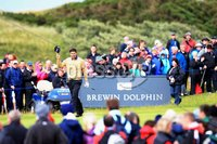 ©Press Eye Ltd Northern Ireland -30th June 2012. Mandatory Credit - Picture by Darren Kidd/Presseye.com .  . 2012 Irish Open at Royal Portrush..  Day 3 - Padraig Harrington on the 17th green