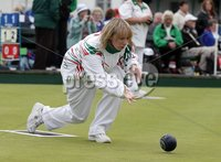 Northern Ireland- 19th June 2012 Mandatory Credit - Photo-Jonathan Porter/Presseye. Bowls Ladies Home International Series at Ward Park in Bangor, Co. Down.  Ireland\'s Ashleigh Rainey bowls.