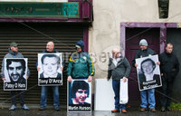 Press Eye - Belfast - Northern Ireland - 5th October 2019. Newry Republican Commemoration Committee parade through the town to Raymond McCreesh park to commemorate the hunger striker.  IRA volunteer Raymond McCreesh died in May 1981 as part of the Republican hunger strikes which seen 10 men die in the Maze prison.  A children\'s playpark in Newry was recently named after him. . The parade forms up. . Picture by Jonathan Porter/PressEye