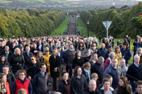 Press Eye - Abortion Protest Walk - Stormont Estate - 6th September. Photograph by Declan Roughan. Over 10,000 people joined a silent walk on Stormont tonight in protest at Westminster\'s imposition of what they call