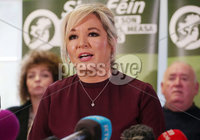 Press Eye Belfast - Northern Ireland 13th November 2017. Sinn Fein hold a press conference at Stormont regarding the ongoing talk to get the Northern Ireland Assembly up-and-running. . Northern leader Michelle O\'Neill pictured at the press conference. . Picture by Jonathan Porter/PressEye.com