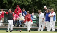 Northern Ireland- 18th June 2012 Mandatory Credit - Photo-Jonathan Porter/Presseye.  Bowls - Ladies British Isles Fours Final at Ward Park in Bangor Co. Down.  England vs Wales(red).