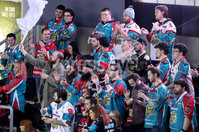 Press Eye - Belfast -  Northern Ireland - 12th January 2018 - Photo by William Cherry/Presseye. Boomerang corner watch Belfast Giants with Nottingham Panthers during Friday nights Elite Ice Hockey League game at the SSE Arena, Belfast.