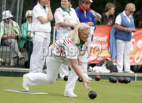 Northern Ireland- 19th June 2012 Mandatory Credit - Photo-Jonathan Porter/Presseye. Bowls Ladies Home International Series at Ward Park in Bangor, Co. Down.  Ireland\'s Anne-Gillen Murphy bowls.