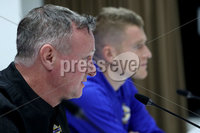 Press Eye - Belfast, Northern Ireland - 09th October 2019 - Photo by William Cherry/Presseye. Northern Ireland manager Micheal O\'Neill during Wednesday nights press conference at Stadium Feijenoord ahead of Thursday nights UEFA Euro 2020 Qualifier against Netherlands in Rotterdam. Photo by William Cherry/Presseye
