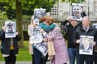 Press Eye - Belfast - Northern Ireland - 22nd October 2019. Final day of evidence at the inquest for the deaths of 11 people in Ballymurphy in August 1971 at Laganside Courts in Belfast. 10 people died after being shot by the Parachute Regiment in the area with one more person dying after complications following a confrontation with soldiers. . . Picture by Jonathan Porter/PressEye