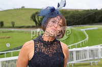 Press Eye - Belfast - Northern Ireland - 11th August 2019 - Pauline McCarthy from Portaferry, pictured at the Downpatrick Racecourse Style Sunday race meeting. . Photograph by Declan Roughan / Press Eye