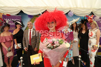 Press Eye - Belfast - Northern Ireland - 11th August 2019 - Downpatrick Racecourse Style Sunday race meeting. . (L-R) Carol Rooney, winner of the Hannon Travel Most Stylish Hat & Accessories Competition.