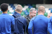 Press Eye - Belfast - Northern Ireland - 8th  September 2019. Northern Ireland train at the National Stadium ahead of their UEFA Euro Qualifier against Germany.. Picture by Declan Roughan/PressEye. Northern Ireland Manager Michael O\'Neill