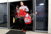 European Rugby Champions Cup Round 4, Kingspan Stadium, Belfast 15/12/2017. Ulster vs Harlequins. Ulster\'s Robbie Diack and Darren Cave arrive. Mandatory Credit ©INPHO/Bryan Keane