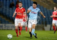 BetMcLean League Cup Round 3, Ballymena Showgrounds, Ballymena 10/10/2017. Ballymena United vs Portadown. Ballymena United\'s Joseph McKinney and Gary Warwick of Portadown. Mandatory Credit ©INPHO/Brian Little