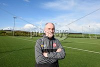 PressEye Belfast - Northern Ireland - 18th May 2017. Tyrone GAA press night at the Garvaghey Centre ahead of the Ulster Senior Football Championship tie against Derry.. Pictured: Tyrone manager Mickey Harte at the press night in Garvaghey Centre. Picture by John Stafford/PressEye.com
