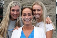 Mandatory Credit - Picture by Freddie Parkinson/Press Eye . Thursday 15 August 2019. Ballyclare High School. A Level Results on the increase once again in Ballyclare High School.. Dr Michelle Rainey Principal (Centre) with Laura Chestnut A* and 2A and Alexandra Jenkins 3A*