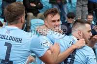 Danske Bank Premiership, The Showgrounds, Ballymena, 14/09/2019. Ballymena United vs Coleraine. Mandatory Credit INPHO/Declan Roughan. Ballymena United\'s Scott Whiteside scores against Coleraine