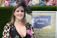 Press Eye - Belfast - Northern Ireland - 11th August 2019 - Sarah Deazley from Belfast at the Downpatrick Racecourse Style Sunday race meeting. . Photograph by Declan Roughan / Press Eye