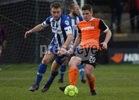 Danske Bank Premiership, Belfast Loughshore Hotels Arena 2/12/2017 . Carrick Rangers vs Coleraine. Martin Smith of Coleraine and Ben Rory of Carrick. Mandatory Credit ©INPHO/Freddie Parkinson