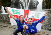 Press Eye - Belfast -  Northern Ireland - 07th October 2017 - Photo by William Cherry/Presseye. Northern Ireland fans Ricky Finlay and Chris Henderson pictured in Oslo ahead of Sundays World Cup Qualifier against Norway at the Ullevaal Stadion, Oslo.   Photo by William Cherry/Presseye