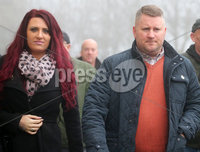 Press Eye - Belfast - Northern Ireland - 10th January 2018. Britain First leader Paul Golding arrives at Belfast Magistrates Court, along with the deputy leader Jayda Fransen, where he was appearing after being charged with making a hate speech at Belfast City Hall last summer.  See copy by Alan Erwin/Laganside  Media. . Picture by Jonathan Porter/PressEye