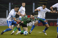 4th May 2021. Danske Bank Irish league,The Oval,Belfast.. Glentoran v Coleraine . Glentorans  Ciaran Oconnor  in action with Coleraines  Stephen ODonnell. Mandatory Credit Inpho/Stephen Hamilton