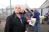 Mandatory Credit - Picture by Freddie Parkinson/Press Eye . Sunday 11 August 2019. Former and retired Harland and Wolff workers where invited to come to the shipyard at noon on Sunday August 11th when concrete prints will be made of the hands that built the shipyard.  The event is part of the ongoing occupation to save jobs and the yard.. Charlie Simmons former welder