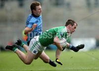 GAA Football All Ireland Senior Championship Quarter-Final, Croke Park, Dublin 2/8/2015. Dublin vs Fermanagh. Dublin's Jack McCaffrey and Ruairi Corrigan of Fermanagh. Mandatory Credit ©INPHO/James Crombie.