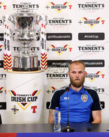 Press Eye - Belfast -  Northern Ireland - 27th April 2018 - Photo by William Cherry/Presseye. Coleraine\'s Gareth McConaghie pictured during Wednesday nights Tennents Irish Cup Press Conference at the National Stadium, Belfast.