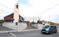 Press Eye - Belfast - Northern Ireland - 6th October 2019. General view of the Andersonstown Road in west Belfast where two boys boys, aged 6 and 12 where knocked down and injured on Saturday evening put St Agnes Church.  A 37 year old man has been arrested has since been arrested. . Picture by Jonathan Porter/PressEye