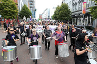Press Eye - Belfast - Northern Ireland - 7th September 2019 - . General view of the Rally for Choice in Belfast City Centre.. Photo by Declan Roughan / Press Eye..
