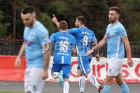 Danske Bank Premiership, The Showgrounds, Ballymena, 14/09/2019. Ballymena United vs Coleraine. Mandatory Credit INPHO/Declan Roughan. Coleraine\'s James McLaughlin scores against Ballymena United