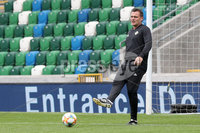 Press Eye - Belfast - Northern Ireland - 8th  September 2019. Northern Ireland train at the National Stadium ahead of their UEFA Euro Qualifier against Germany.. Picture by Declan Roughan/PressEye. Goal keeping Coach Steve Harper