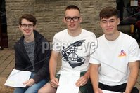 Mandatory Credit - Picture by Freddie Parkinson/Press Eye . Thursday 15 August 2019. Ballyclare High School. A Level Results on the increase once again in Ballyclare High School.. Philip Rainey 4A, Jay Dundee 1A* 2A and Stewart Hull 2A8 B.