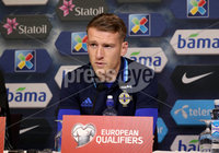 Press Eye - Belfast -  Northern Ireland - 07th October 2017 - Photo by William Cherry/Presseye. Northern Ireland captain Steven Davis during Saturdays Press Conference at the Ullevaal Stadion, Oslo ahead of Sundays World Cup Qualifier against Norway.   Photo by William Cherry/Presseye