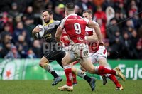 European Rugby Champions Cup Round 5, Kingspan Stadium, Belfast 13/1/2018. Ulster vs La Rochelle. La Rochelle\'s Alexi Bales runs in a try. Mandatory Credit ©INPHO/Tommy Dickson
