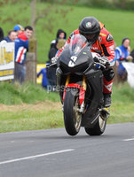 Mandatory Credit: Rowland White / PressEye. Motor Cycle Racing: 57th Tandragee 100 . Venue: Tandragee. Practice Day. Date: 21st April 2017. Caption: Guy Martin letting it go