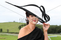 Press Eye - Belfast - Northern Ireland - 11th August 2019 - Emma Murray from Castlewellan at the Downpatrick Racecourse Style Sunday race meeting. . Photograph by Declan Roughan / Press Eye