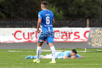 Danske Bank Premiership, The Showgrounds, Ballymena, 14/09/2019. Ballymena United vs Coleraine. Mandatory Credit INPHO/Declan Roughan. Ballymena United\'s James McLaughlin misses a chance