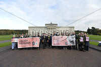 Presseye.com. 21/10/2019. Pro Life campaigners  pictured at Stormont ahead of todays ruling that will decriminalise abortion in Northern Ireland.. Mandatory Credit Stephen Hamilton /Presseye