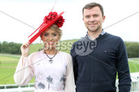 Press Eye - Belfast - Northern Ireland - 11th August 2019. (L-R)  Grainne Carr and Colm Smyth from Kildare pictured at the Downpatrick Racecourse Style Sunday race meeting. . Photograph by Declan Roughan / Press Eye