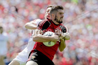 Ulster GAA Senior Football Championship Final, St Tiernach\'s Park, Clones, Co. Monaghan 16/7/2017. Down vs Tyrone. Down\'s Connaire Harrison with Colm Cavanagh of Tyrone. Mandatory Credit ©INPHO/Morgan Treacy