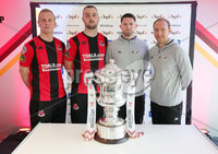 Press Eye Northern Ireland . Thursday 6th December 2018. Picture by Jonathan Porter  / Press Eye . . 5th Round Draw of the Tennent\'s Irish Cup that took place today in Pat Jennings Lounge, National Football Stadium at Windsor Park.. .