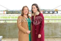 Press Eye - Belfast - Northern Ireland - 1st November 2019 - . Down Royal Racecourse - November Festival Day 1 - Friday . Katy Walsh and Kathleen Hegarty pictured at Down Royal . Photo by Kelvin Boyes / Press Eye.. .