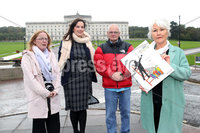 Press Eye - SAVIA NI - Stormont - 3rd October 2019. Photograph by Declan Roughan. SAVIA meeting SoS Julian Smith, Stormont House. Hoping to hear, more clearly his plans for accelerated passage on HIA Legislation...as demanded by many.. (L-R) Seanin Malone, Rathgael, Claire McKeegan, SAVIA Lobby Group (Phoenix Law), Ron Graham, Kincora and Margaret McGuckin, SAVIA.