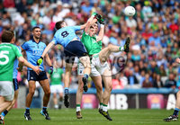 GAA Football All Ireland Senior Championship Quarter-Final, Croke Park, Dublin 2/8/2015. Dublin vs Fermanagh. Dublin\'s Brian Fenton with Eoin Donnelly and Richard O'Callaghan of Fermanagh. Mandatory Credit ©INPHO/Cathal Noonan