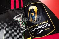 European Rugby Champions Cup Round 4, Kingspan Stadium, Belfast 15/12/2017. Ulster vs Harlequins. A view of the Champions Cup branding on a Harlequins jersey. Mandatory Credit ©INPHO/Tommy Dickson