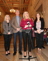 Press Eye - Parliament Buildings - Stormont - Sinn Féin Press Conference - 20th April 2017. Photograph by Declan roughan. Sinn Féin\'s Michelle O\'Neill speaks to the press following her meeting with Secretary of State, Rt Hon James Brokenshire MP.