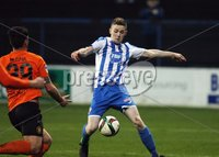 Mandatory Credit - Picture by Freddie Parkinson/Press Eye ©. Saturday 21st November 2015. NIFL Premiership. The Showgrounds, Coleraine.. Coleraine FC vs. Carrick Rangers FC. Coleraine\'s Jamie McGonigle scores their second goal.