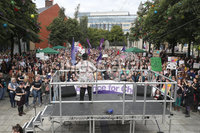 Press Eye - Belfast - Northern Ireland - 7th September 2019 - . General view of the Rally for Choice in Belfast City Centre.. Photo by Declan Roughan / Press Eye.. .