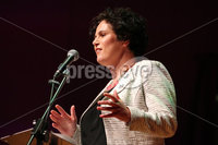 Press Eye - Belfast - Northern Ireland - 14th September 2019. Opponents of a no-deal exit will gather in the Ulster Hall this Saturday for the Let Us Be Heard event.  A line-up of speakers from business and across the political spectrum in Northern Ireland and the UK spoke about their opposition to the decision by Boris Johnson\'s government to prorogue Parliament for five weeks in the crucial period leading up to the Brexit deadline of October 31.  Speakers at the event included former attorney general Dominic Grieve MP, one-time Labour spin doctor Alastair Campbell and former GAA player John McAreavey with a video message from Derry Girls star Siobhan McSweeney.. The SDLP\'s Claire Hanna speaks at the event. . Picture by Jonathan Porter/PressEye